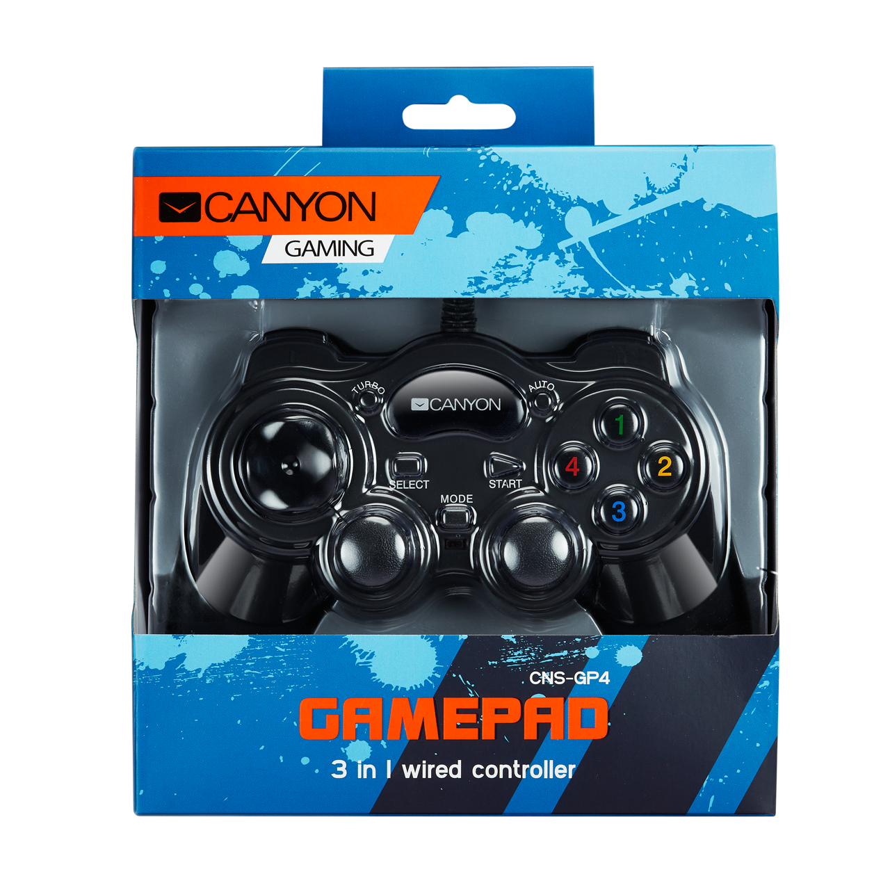 3 in 1 Wired Gamepad (CNS-GP4) - Canyon