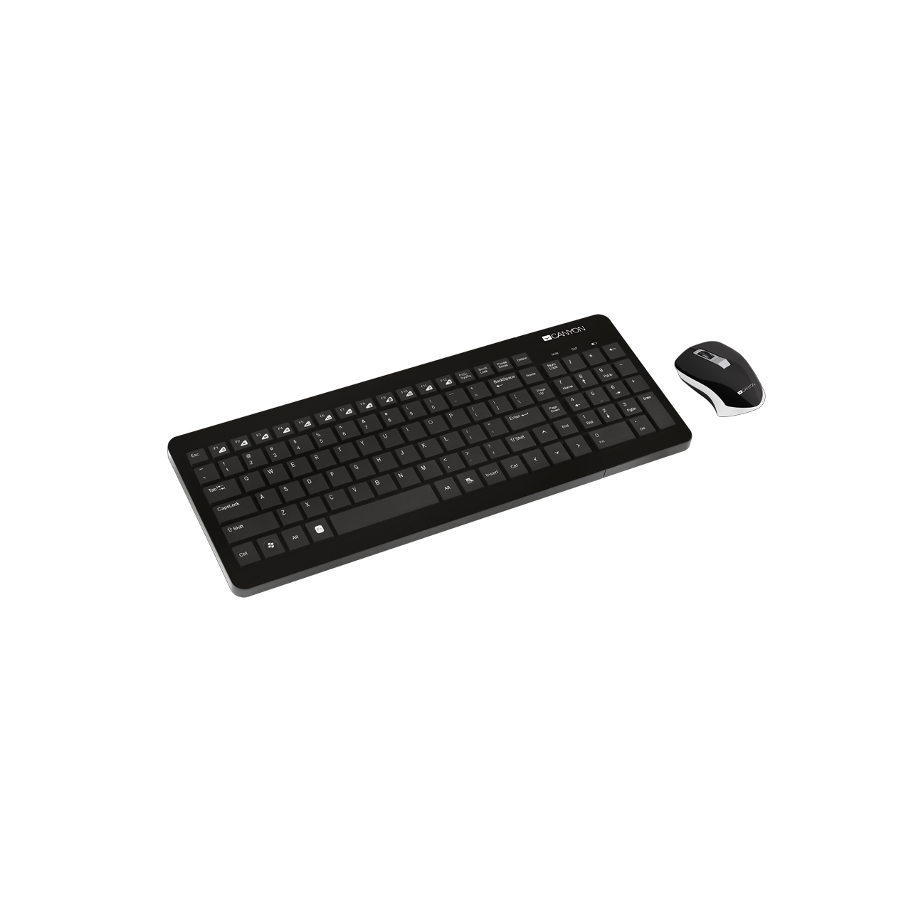 Stylish multimedia wireless keyboard and mouse set (CNS