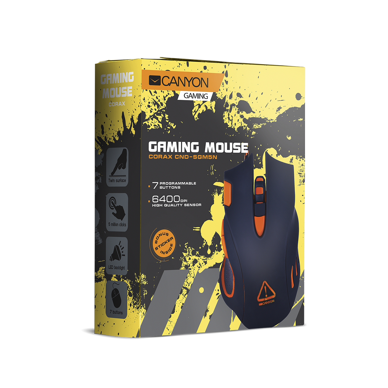 Corax Gaming Mouse (CND-SGM5N) - Canyon